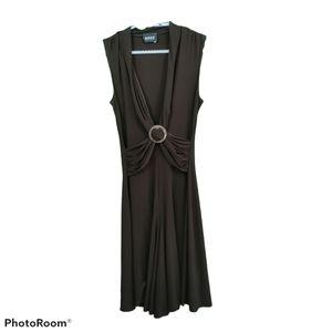 2555 Designer Collection Brown Sleeveless Dress S